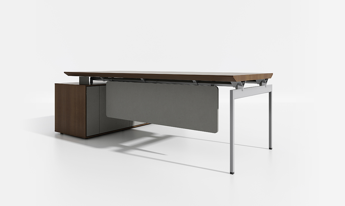 Luxus Soild Wood L-förmige Büromöbel Executive Tisch (HC-Oswald - xl)