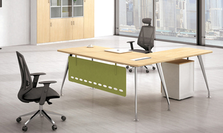 Weißer L-Form Endable Office Executive Tisch (HC-96)