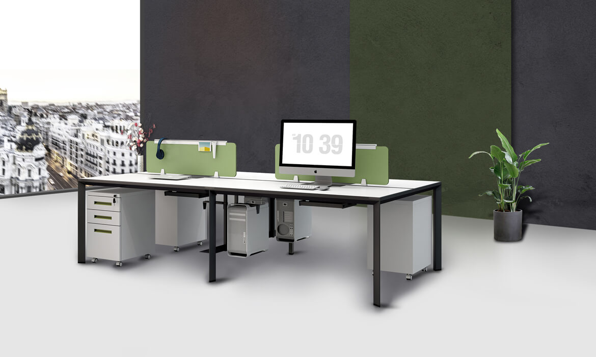 Modulare Office Table Design Workstation mit Speicher (HC-Migge)
