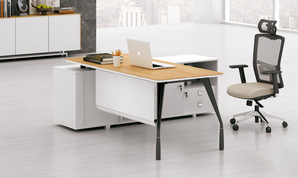 Mode Einfaches Design L-Shape Manager Bürocomputertisch (HC-87)